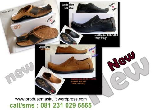 Sepatu dan sandal kulit