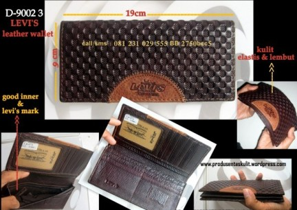 Dompet Kulit Wanita Leather Wallet 3 A